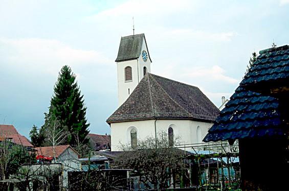 Ein Bild der Kirche von Oberneunforn